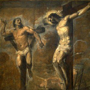 Cristo e il buon ladrone Tiziano