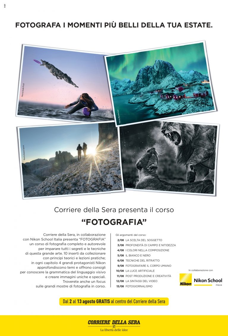 The Photography explained by the Corriere della Sera & Nikon School Spectral Imaging Systems